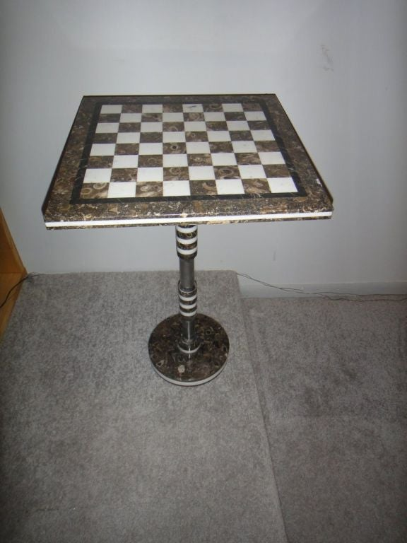 mid-century modern marble chess table at 1stdibs