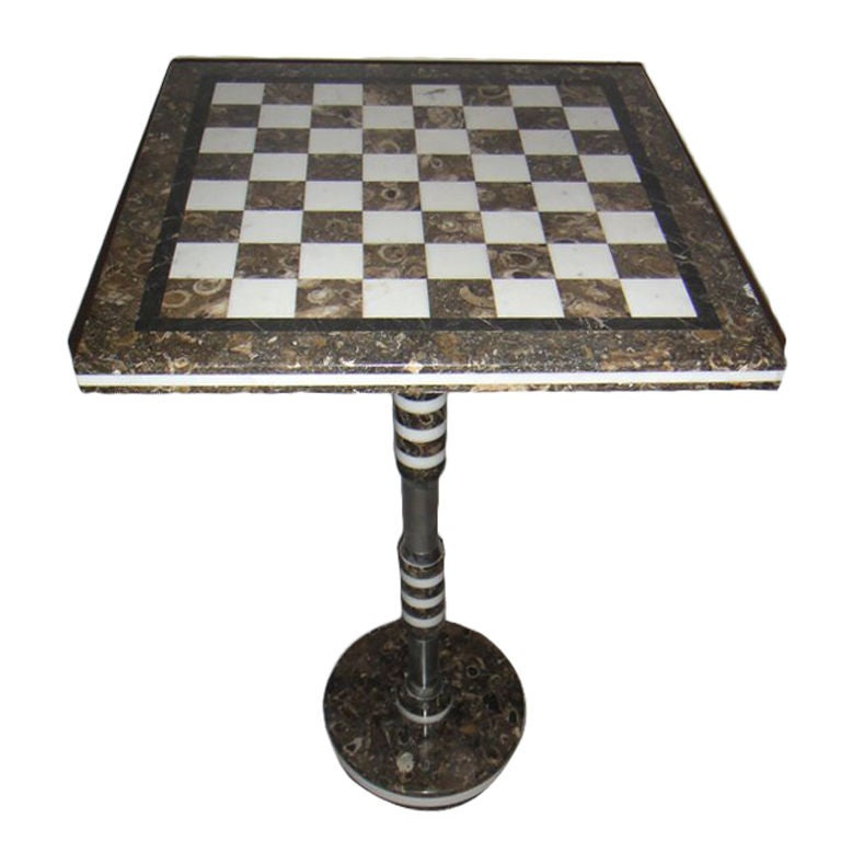 Marble Chess Table At 1stdibs