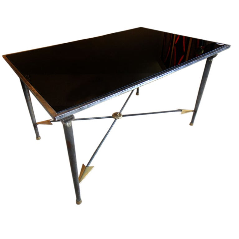 metal and glass coffee table for sale at 1stdibs With glass and metal coffee tables for sale