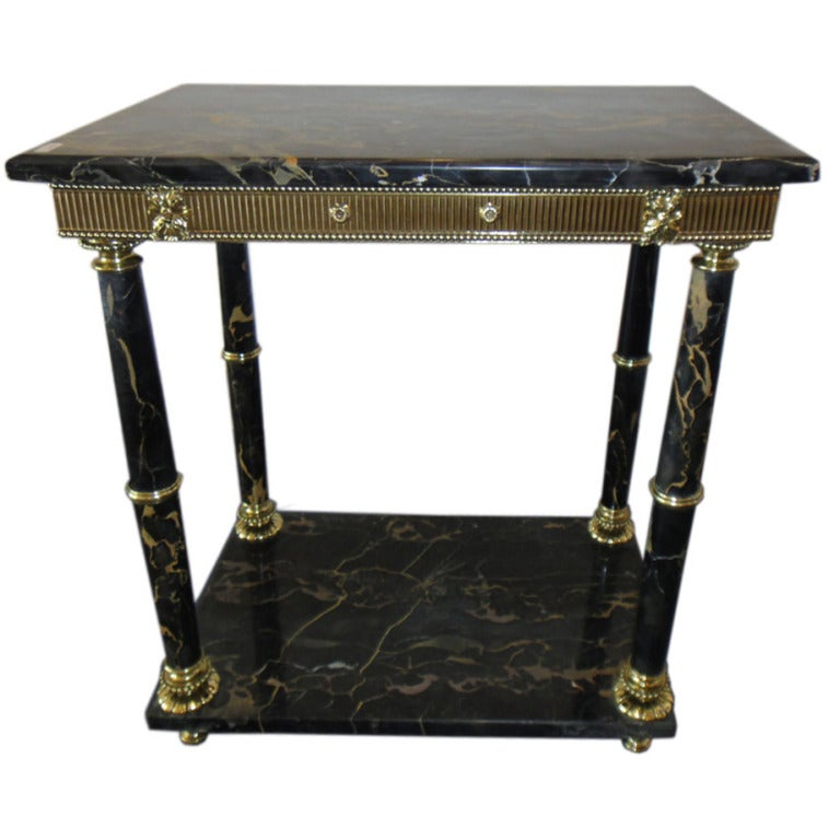 """Kimball Marble Coffee Table: """"Black And Gold"""" Portoro Marble Table At 1stdibs"""