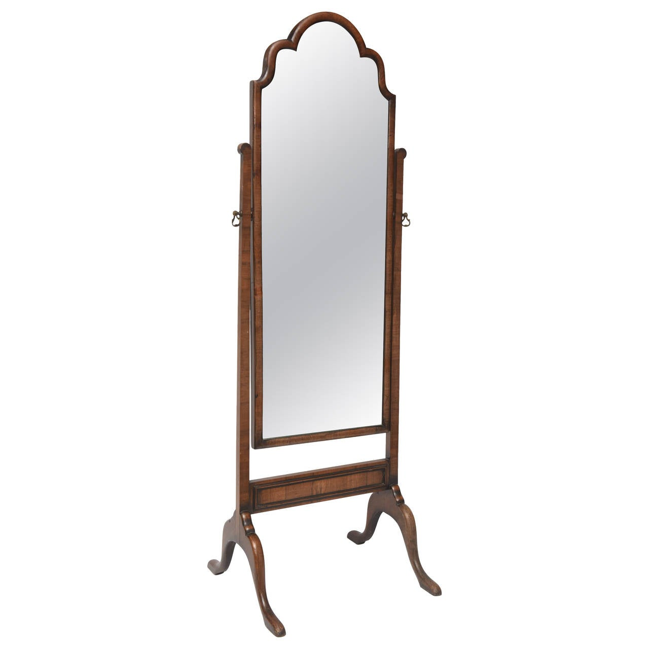 Georgian style psyche floor mirror at 1stdibs for Floor length mirror for sale