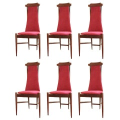 Set of 6 Chairs Mid-Century Italian Design Franco Albini Style