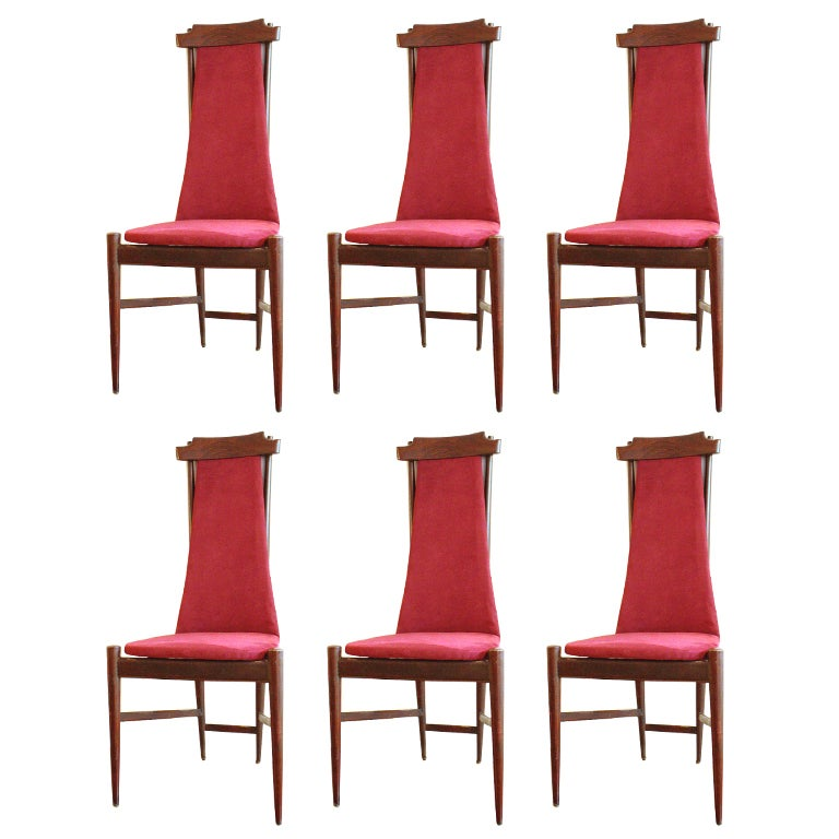 Set of 6 Chairs Mid-Century Italian Design Franco Albini Style