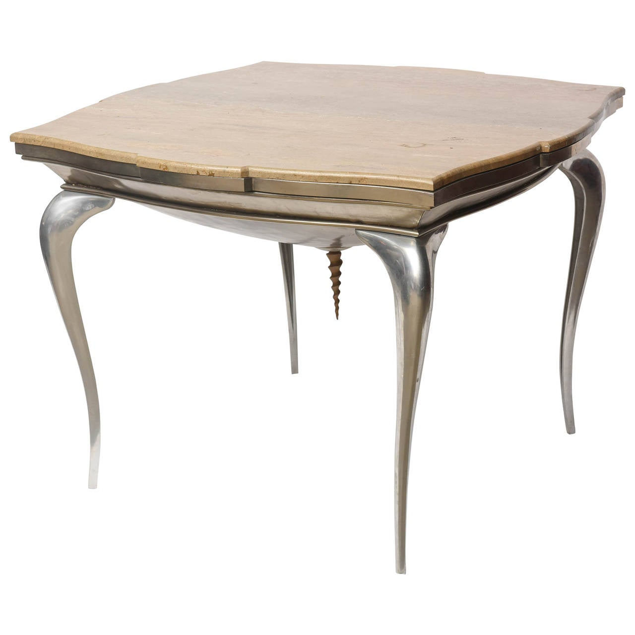 One of a kind midcentury central dining table by mark for Markup table