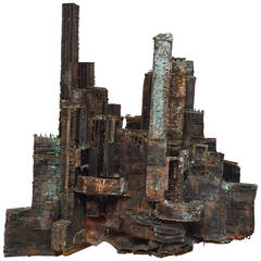 Unic Brutalist Metal Sculpture