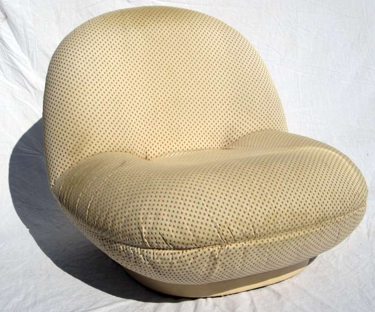 Pierre Paulin 4 Pacha Chairs 1 Pouf At 1stdibs