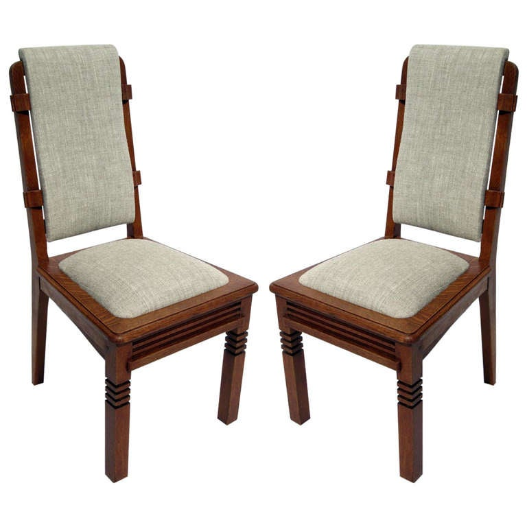 A St of 10 Chairs by Charles Dudouyt