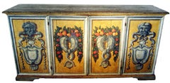 """Genova"" 19th Century Italian Credenza  , Painted Wood  Sideboard"