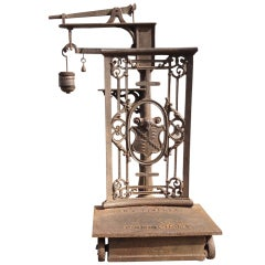 Mid-19th Century English Cast Iron Commodities Scale, Marked Birmingham