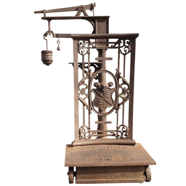 Mid-19th Century English Cast Iron Commodities Scale, Marked Birmingham
