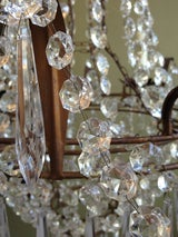 Beautiful 1910/1920s Italian Crystal and Tole Chandelier image 6