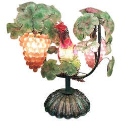 Early 20th C Murano Glass Lamp