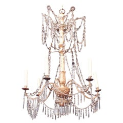 Late 18th Century Italian Genoese Gilt and Iron Chandelier