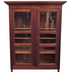 19th Century Caribbean French Colonial Bookcase
