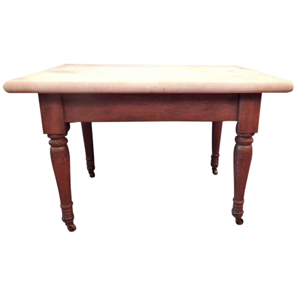 19th Century Southern Marble Topped Bakers Table At 1stdibs
