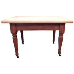 19th C Southern Marble-Topped Baker's Table