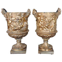 18th Century French Doré Bronze Wine Coolers