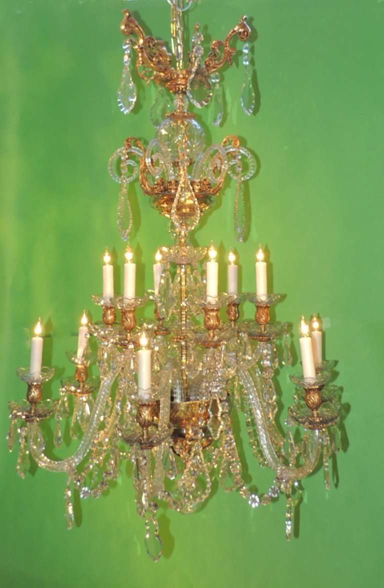 Grand Mid 19th Century French D Ore Bronze And Baccarat