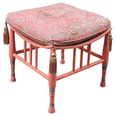 Early 20th Century Egyptian Revival Stool or Ottoman