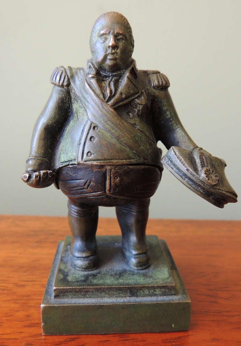 Miniature Louis XVIII with Hidden Napoleon Bronze ...