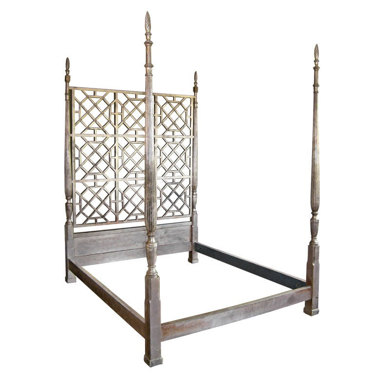 20th C Silverleaf Poster Bed At 1stdibs