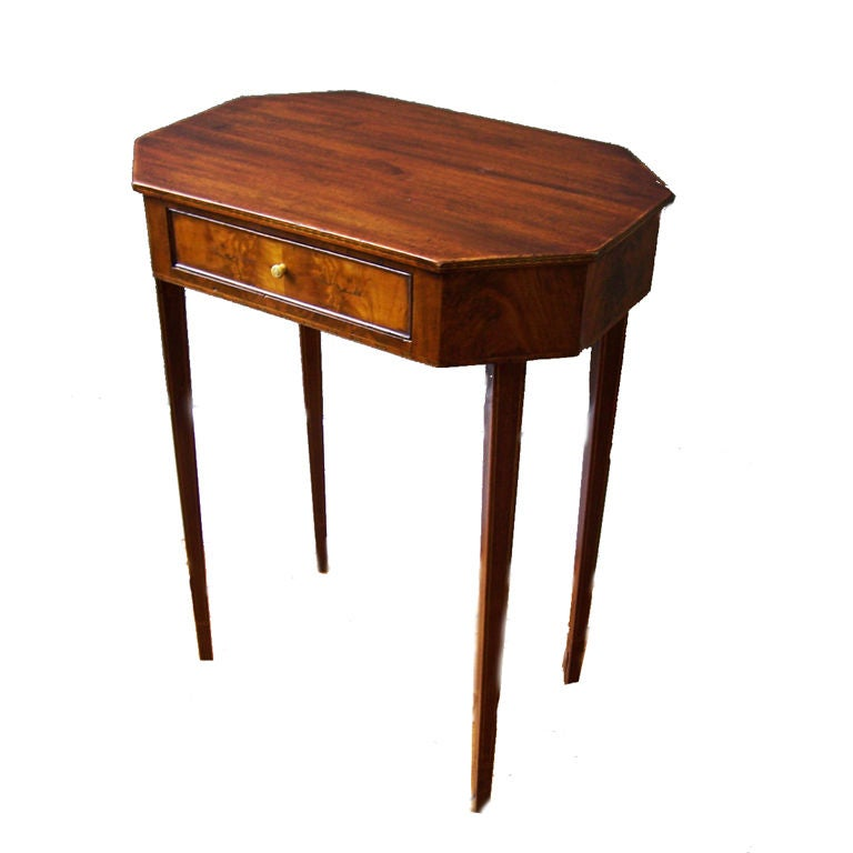 This antique french cherry side table is no longer available - New England Federal Work Table At 1stdibs