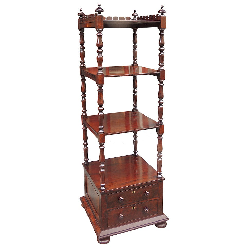 Early 19th C English Regency Mahogany Library Stand