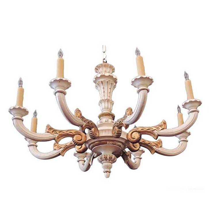 Italian 1920s Wood Carved Chandelier At 1stdibs