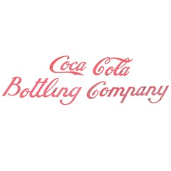Early 20th C Coca Cola Bottling Company Sign