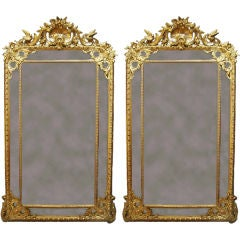 Pair of French Pier Mirrors