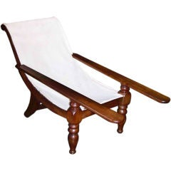 Early 19th Caribbean British Colonial Mahogany Planter's Chair