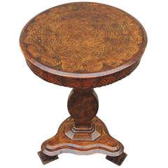 Early 19th C Spanish Walnut Tilt-Top Table