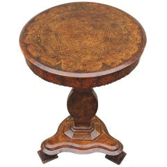 Early 19th C Spanish Walnut Tilt-Top Table