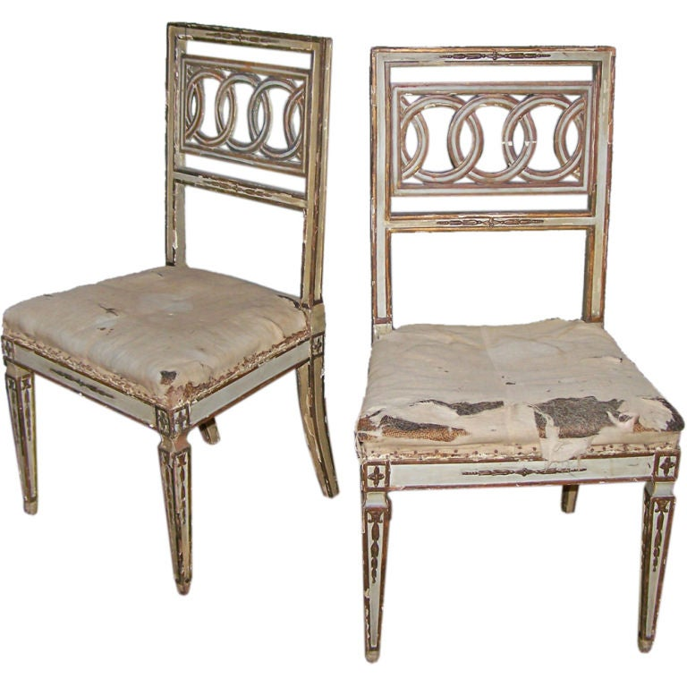 18th c. Neoclassical Side Chairs 1
