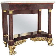 1830s New York Marble-Topped Console Table