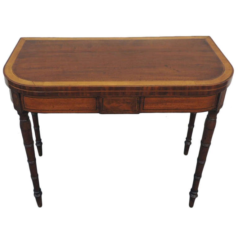Early 19th c english neoclassical card table for sale at for England table