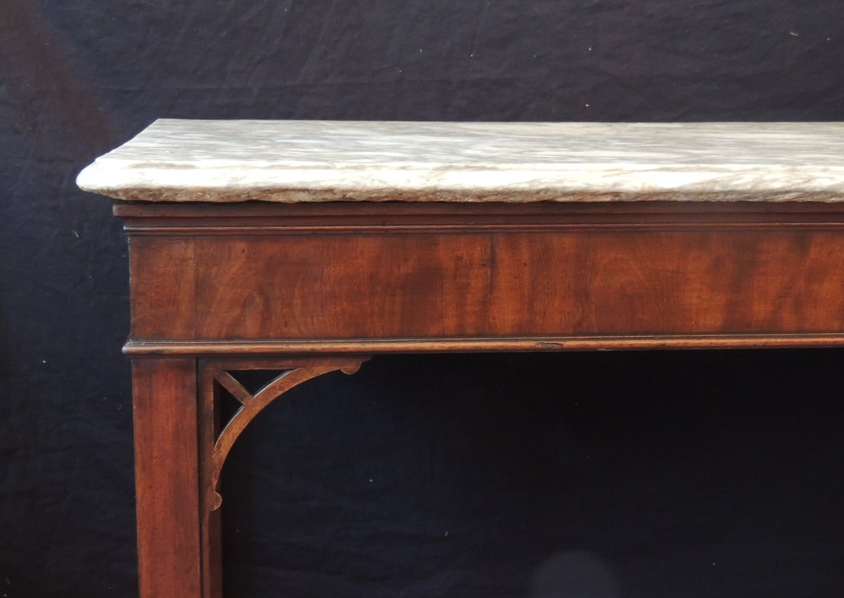 18th Century English Chippendale Mahogany Slab Table In Good Condition For Sale In Charleston, SC