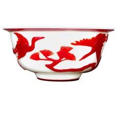 Red Peking Glass Bowl