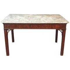 18th Century English Chippendale Mahogany Slab Table