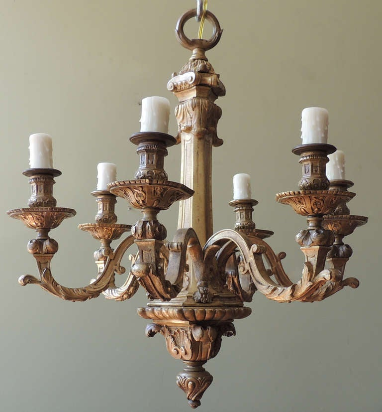 19th C French Bronze Chandelier at 1stdibs