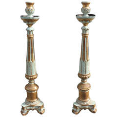 Pair of 18th C Italian Pricket Sticks