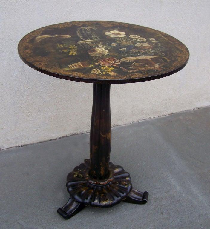 Papier-Mache Tilt-Top Table 7