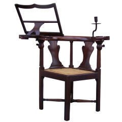 18th C Corner Mahogany and Pine Metamorphic Chair