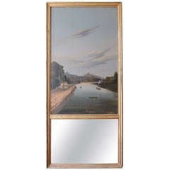 19th C French Régence Trumeau Mirror