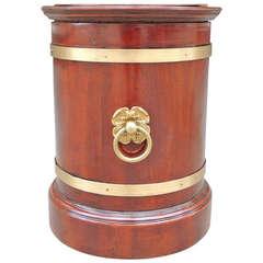 19th Century English Regency Campaign Wine Cooler