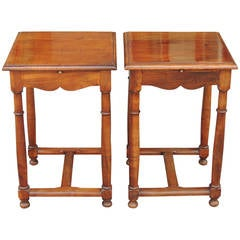 Pair of Direcotoire French Provincial Walnut Tables