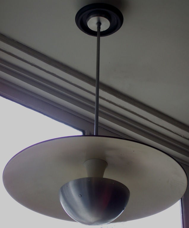 20th Century American Modern Aluminum Pan Chandelier For