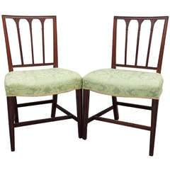 Pair of 18th C English Neoclassical Side Chairs