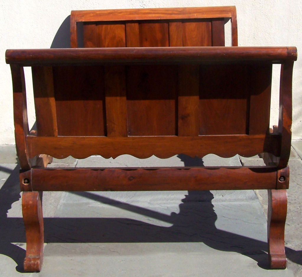 19th Century Rare Labeled Early 19th C Haitian French Colonial Day Bed from the West Indies For Sale