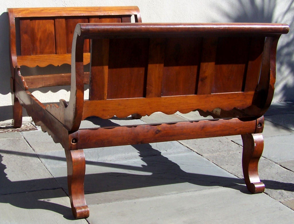 Rare Labeled Early 19th C Haitian French Colonial Day Bed from the West Indies For Sale 1